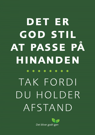 Hold afstand - A4